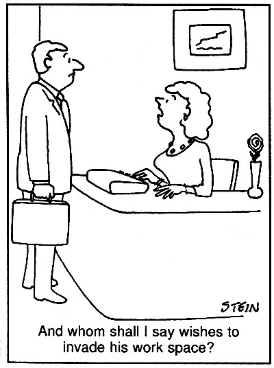 Receptionist Cartoons and Comics - funny pictures from CartoonStock